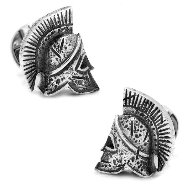 Sterling Silver Spartan Helmet Cufflinks