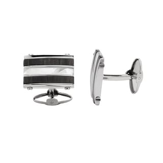 Dolan Bullock Sterling Silver Men's Cuff Links - White