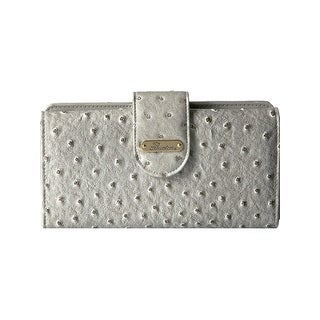 Buxton Womens Ostrich Brights Go To Clutch Wallet Faux Leather Embossed - o/s (3 options available)