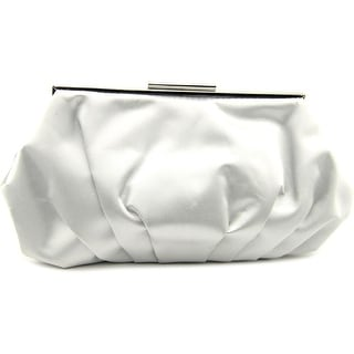 Lulu Townsend Gracie Satin Clutch - Gray