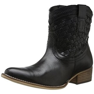 Diba Womens Free Pass Suede Woven Cowboy, Western Boots