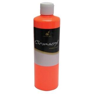 Chromacryl Premium Students Acrylic Paint, 1 pt Bottle, Neon Orange