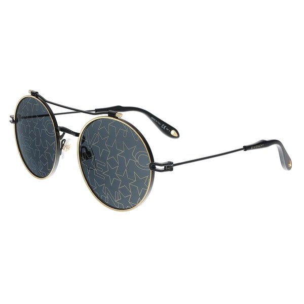 d0b6190f5fa9 Shop Givenchy GV7079/S 2M2 7Y Black Gold Round Sunglasses - no size ...