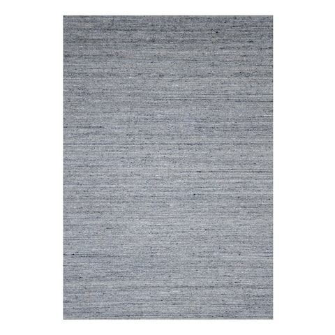 Handmade Wool Grey Contemporary Transitional Rome Rug - 7'6 x 9'6