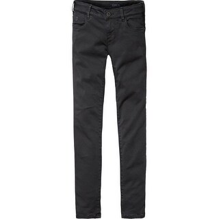 Stretch Sateen Jeans In Black