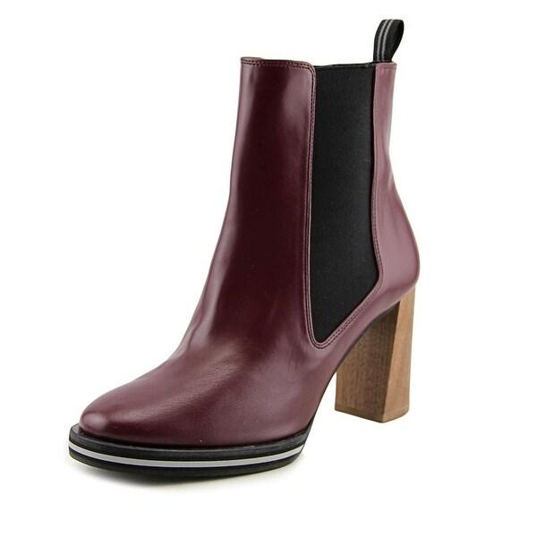 Stella McCartney Felik Women Round Toe Synthetic Burgundy Ankle Boot