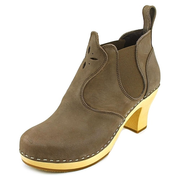 Swedish Hasbeens Opera Women Round Toe Leather Bootie