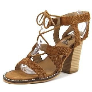 Diba Pop Art Women  Open Toe Suede Tan Sandals