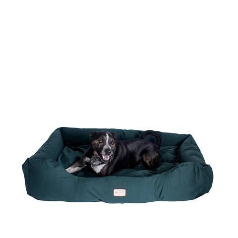 Armarkat Bolstered Dog Bed,Anti-Slip Pet Bed, Laurel Green, Large