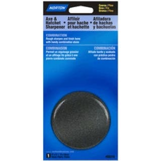 """Norton 85316 Round Sharpening Stone 3""""x5/8"""", Coarse/Fine