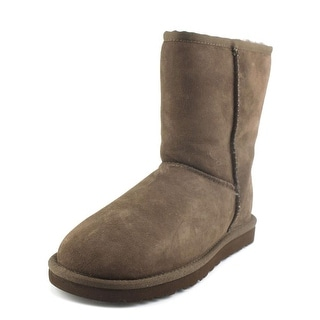 Ugg Australia Classic Short  Women  Round Toe Suede Brown Winter Boot