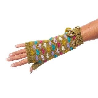Hot Hearts Double Layer Fingerless Wrist Warmers