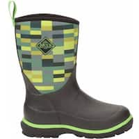 Muck Boots Black/Poison/Green/Pixel Print Youth's Element Boot - Size 4