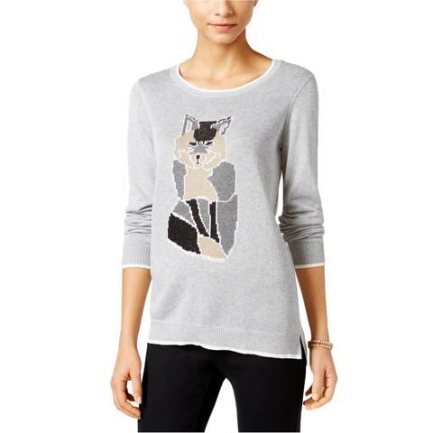 G.H. Bass & Co. Womens Fox Knit Sweater