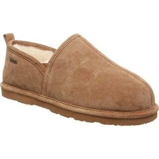 Bearpaw Men's Maddox Closed Back Clog Slipper Hickory II Cow Suede