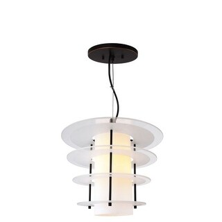 Woodbridge Lighting 14823-DS1GFR 1 Light Full Sized Single Pendant with Frosted Glass Shades from the Layers Collection