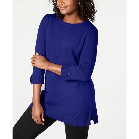 Karen Scott Women's Cotton Sweater Blue Size 2 Extra Large