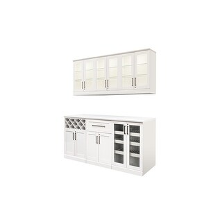 """NewAge Products Home Bar Series 72""""W x 17""""D 7 PC Shaker Style"""