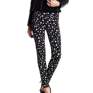 Hudson NEW Black White Women's Size 24X29 Nico Skinny Star Jeans