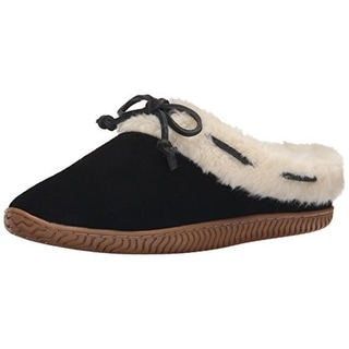 Sperry Womens Bree Mae Faux Fur Slip On Moccasin Slippers - 5 medium (b,m)