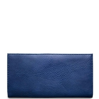 "Link to 7.25"" Navy Blue Rectangular Vegan Leather Wallet Similar Items in Gloves"