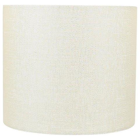 "Classic Drum Metallic Fabric Lamp Shade, 8"" to 16"" Bottom Size"