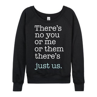 Just Us - Ladies French Terry Pullover