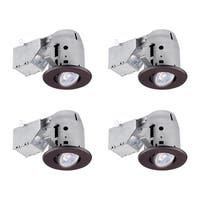 "Globe Electric 90964 3"" Round Adjustable Recessed Trim and Housing - Package of 4"
