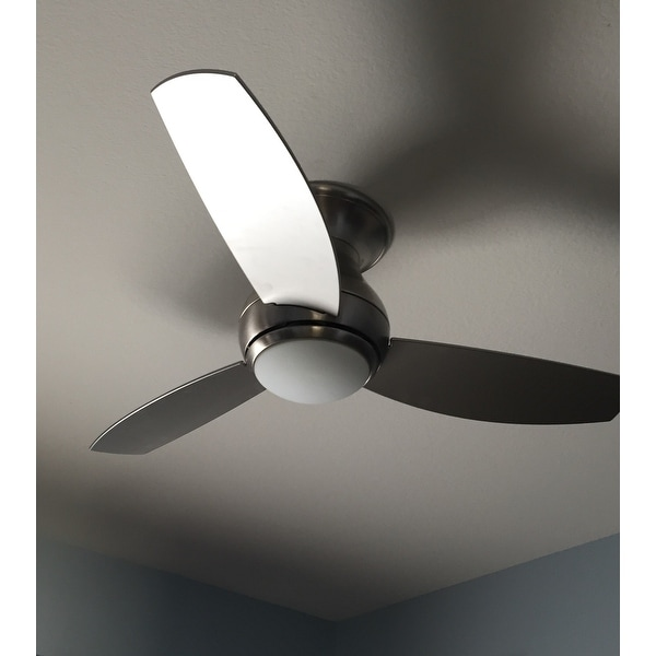 Emerson Curva Sky 44 Inch Brushed Steel Modern Indoor Outdoor Ceiling Fan Silver Free Today Com 10553841