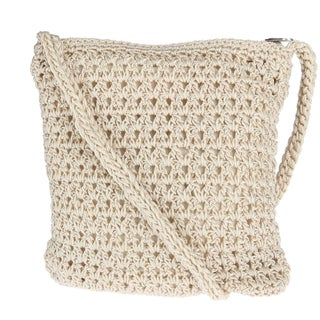 CTM® Women's Crochet Crossbody Handbag - One size