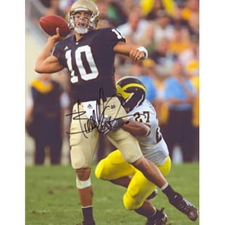 Brady Quinn Notre Dame Fighting Irish Autographed 85x11 Photo This item comes with a certificate of