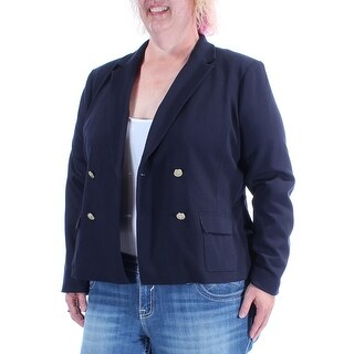 CHARTER CLUB $112 Womens New 1407 Navy Suit Wear To Work Jacket 18 B+B