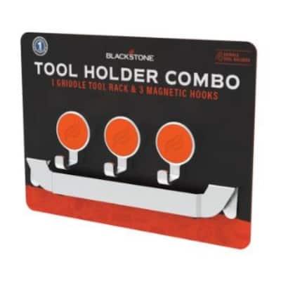 Blackstone Stainless Steel Orange Tool Holder Combo 4 pc.