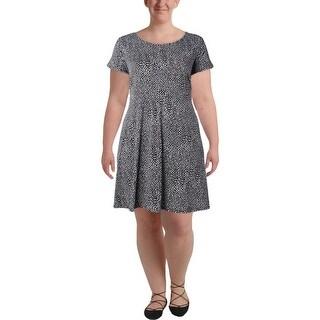 MICHAEL Michael Kors Womens Plus Casual Dress Animal Print Short Sleeves