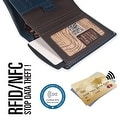 Ikepod Slim Carry Wallet (Navy Blue of 7 Colour)  [ Italy Made // Top Leather] [RFID Blocking and Slim Stitching!] - Thumbnail 3