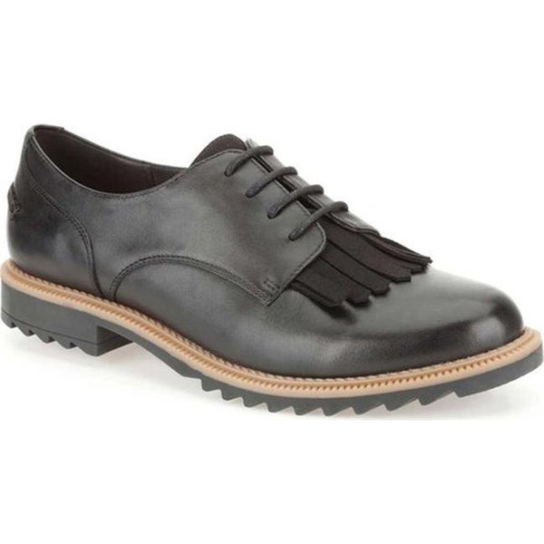 cb90fe4a67914c Shop Clarks Women s Griffin Mabel Oxford Black Leather - Free ...