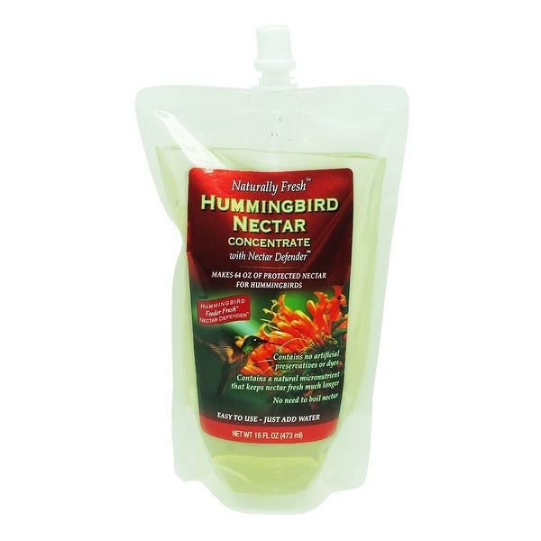 "9"" White and Red Naturally Fresh Hummingbird Nectar with Feeder Fresh Nectar Defender Liquid - N/A"