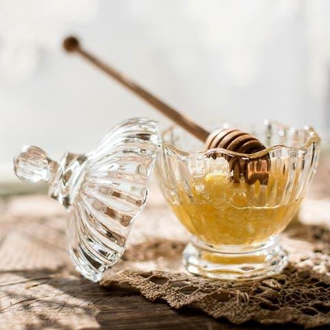 RusticReach Small Glass Jar Jam Jar