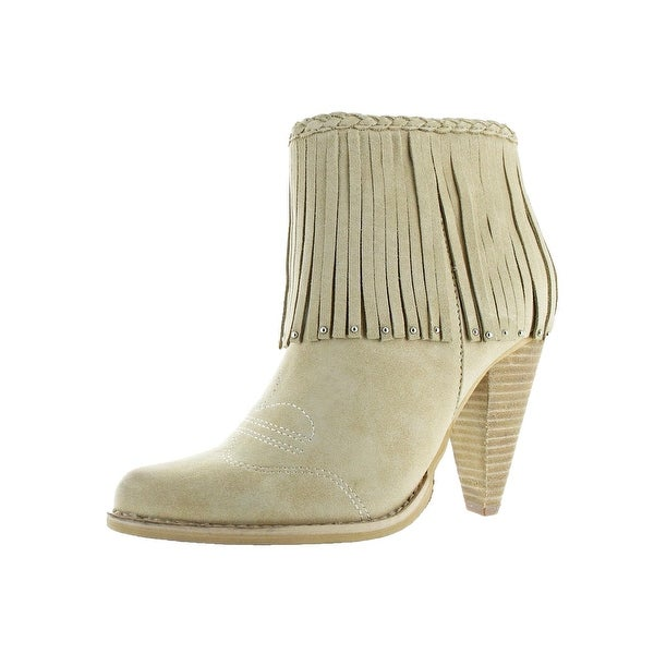 Very Volatile Womens Shakee Booties Cowgirl Braided
