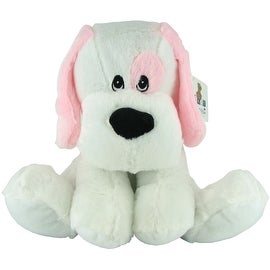 Beverly Hills Teddy Bear Company Plush Rattle Pink Dog