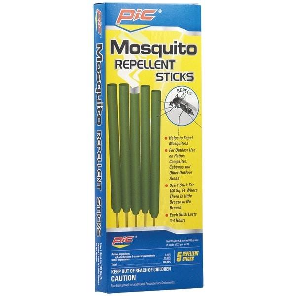 Pic Mos-Stk Area Mosquito Repellent Sticks, 5 Pk