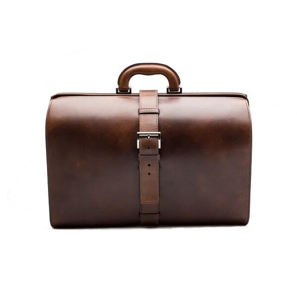 6c1b3b04a231 Prada Vintage Men's Women's Calf Leather Travel Briefcase