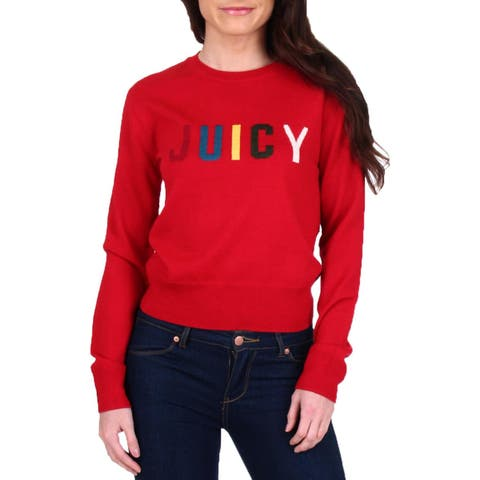 Juicy Couture Black Label Womens Pullover Sweater Wool Logo
