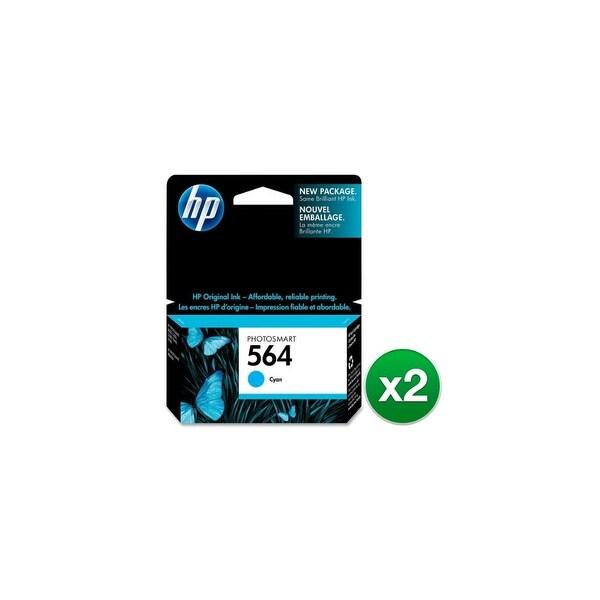 HP 564 Cyan Original Ink Cartridge (CB318WN)(2-Pack)