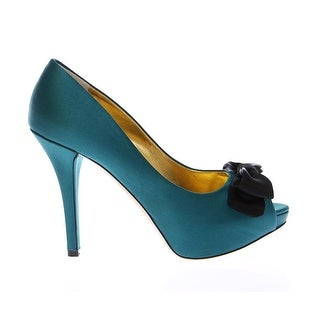 Dolce & Gabbana Blue Silk Platform Open Toe Pumps Shoes - 39