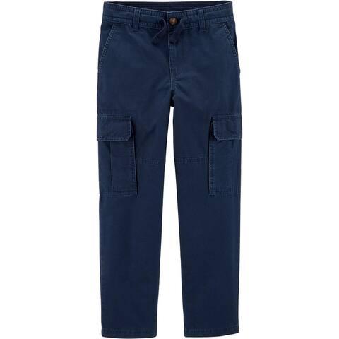 Carter's Big Boys' Slim Cargo Pants- Navy