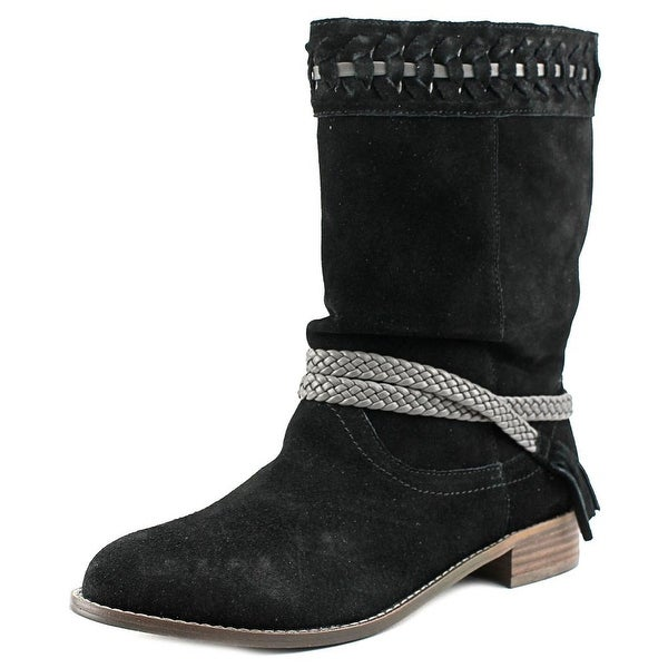 Very Volatile Bynes Women Round Toe Suede Mid Calf Boot