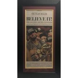 Cleveland Cavaliers Cavs Plain Dealer Believe It NBA Champs Framed Newspaper 1st Edition LeBron James Photo