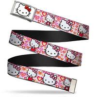 Hello Kitty Face Fcg White Chrome Frame Hello Kitty Valentine's Day 1 Web Belt