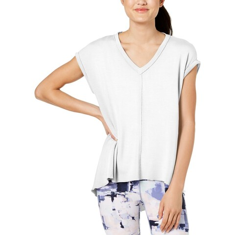 Calvin Klein Womens T-Shirt Hi-Low Short Sleeves
